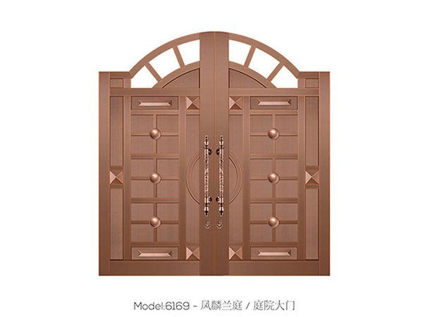 铜艺庭院门