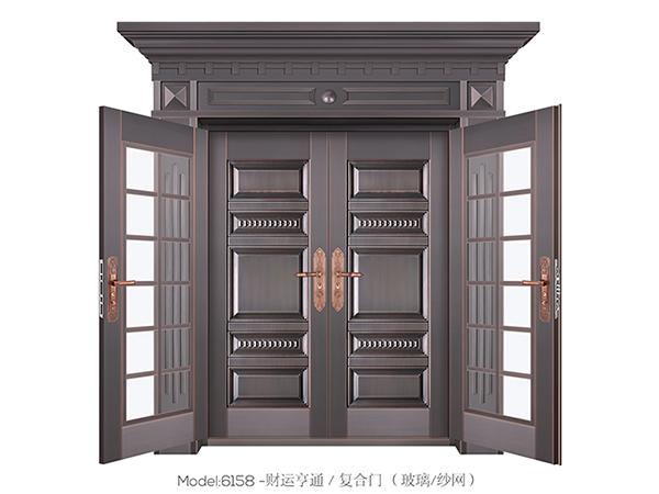铜艺复合门